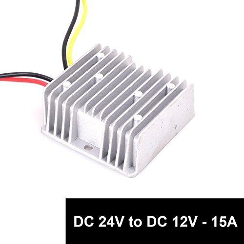 Cocar LKW Netzteil Spannungswandler 24v auf 12v 15A 180W Transformator Trafo Adapter Wandler Konverter for Motor Auto PKW Kfz Boot Sonnensystem (DC15-40V Breit Eingang)