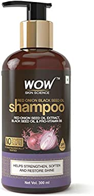 WOW Skin Science Red Onion Black Seed Oil Shampoo With Red Onion Seed Oil Extract, Black Seed Oil & Pro-Vi