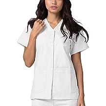 Adar Uniforms Casaca Laboral de Enfermería para Mujeres - 604 Color Wht | Talla: XXS