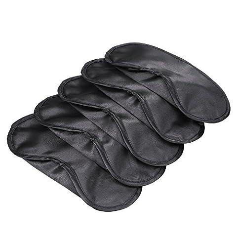 Mudder Masque de Sommeil Shade Cover Masque pour les Yeux, Noir, 5 Pièces