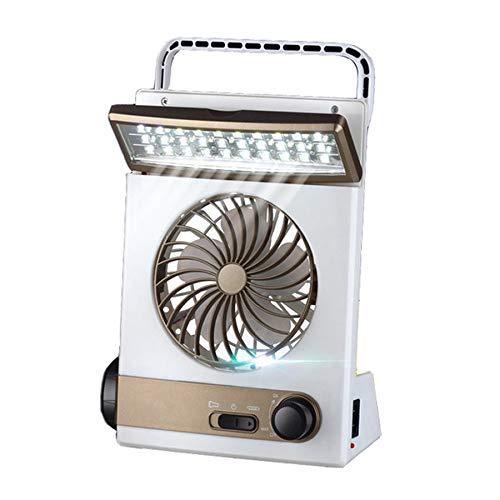 Lovelysunshiny Solar Power Wiederaufladbare Multifunktionale Lüfter und LED-Licht für Camping