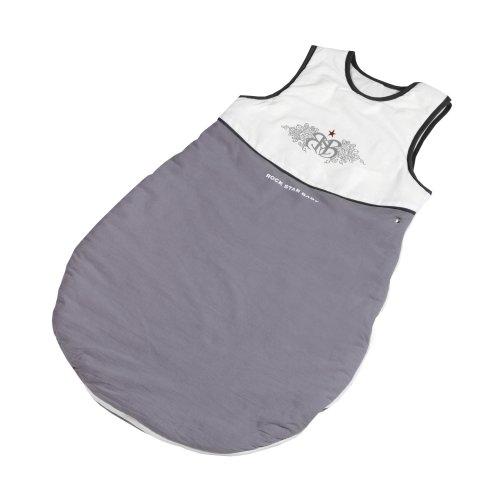 roba Schlafsack, 90cm, Babyschlafsack ganzjahres/ganzjährig, aus atmungsaktiver Baumwolle, Baby- und Kleinkindschlafsack unisex, Kollektion \'Rock Star Baby\'