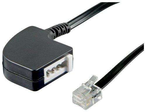 Wentronic Telefon Adapter (RJ11 Stecker auf TAE N Buchse) schwarz (Telefon-buchsen)