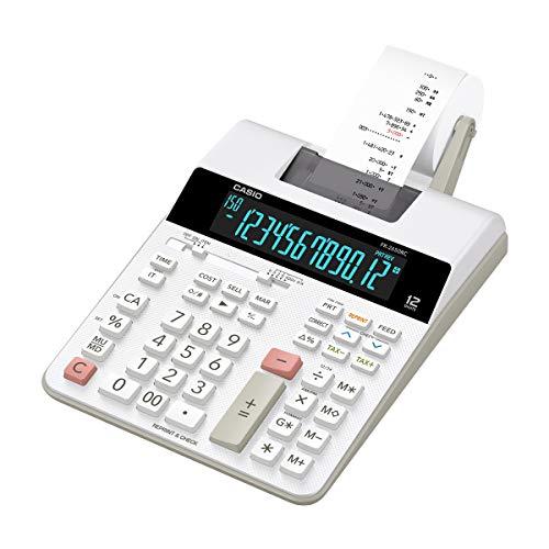 Casio fr-2560rc calcolatrice scrivente, bianco