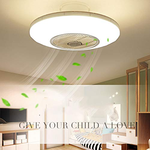 XDDY Deckenventilator Mit Beleuchtung Und Fernbedienung Leise Led Wohnzimmer Lüfter Kühler Deckenleuchte Schlafzimmer Lampe Büro Kinderzimmer (Mit Lüfter Led-licht)