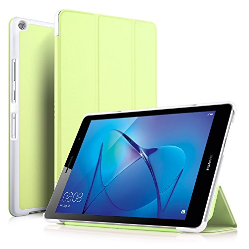 IVSO Huawei MediaPad T3 8.0 hülle, hochwertiges PU Leder Etui hülle Tasche Case - mit Standfunktion, super 360° Anti-Wrestling, ist für Huawei MediaPad T3 8.0 Tablet-PC perfekt geeignet (Grün)