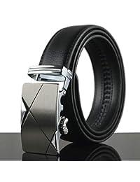 2454f2942 QCCZPYD Cinturón de Hombre Moda de Negocios Famosa Marca de Lujo Popular  Cinturones con Botones de aleación para Hombres…