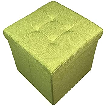 Homeharmony 174 Quilted Top Folding Storage Ottoman Seat