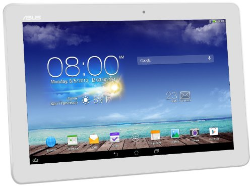 Asus Memopad 10 ME102A 25,40 cm (10 Zoll) Tablet PCs (ASUS RK101 CPU 1,6Ghz Quad-core, 1GB RAM, 16GB HDD, Mail400 MP4, Android Touchscreen) weiß (Android 10 Zoll Asus Tablet)