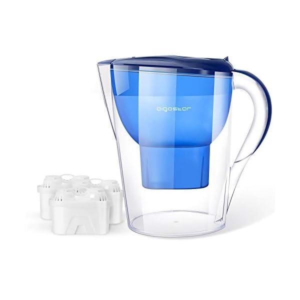 Aigostar Caraffa filtrante per l'acqua da 3.5L & 3 Filtri Pure x 60 giorni.