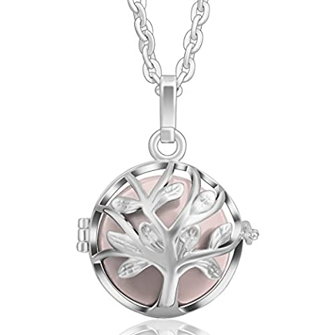 Tree of Life Pendant Silver Chain Necklace Women Long Necklaces