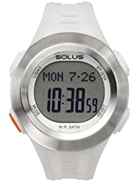Solus Unisex Digital Watch with LCD Dial Digital Display and White Plastic or PU Strap SL-101-003