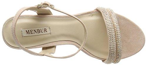 MENBUR - Calendula, Scarpe col tacco con cinturino a T Donna Beige (Beige (Nude))