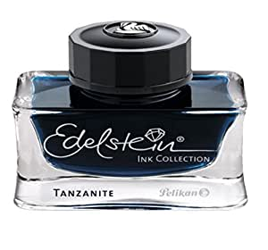 Pelikan 339226 Tinte Edelstein Ink Tanzanite Tinte, 50 ml, 1 Stück, blau/schwarz