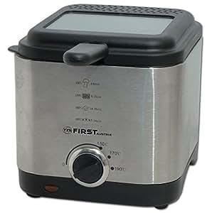 Edelstahl Fritteuse 900 Watt mit 1,5 Liter Fassungsvermögen Fritöse Friteuse