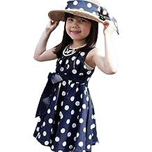 Jimmackey Vestido de princesa Party Dress del vestido de princesa de la gasa del punto de polca de las niñas
