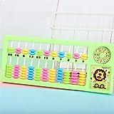 Différents cadeaux à vos bébés Registre de puzzle de dessin animé de couleur Abacus de l'école primaire (couleur aléatoire)