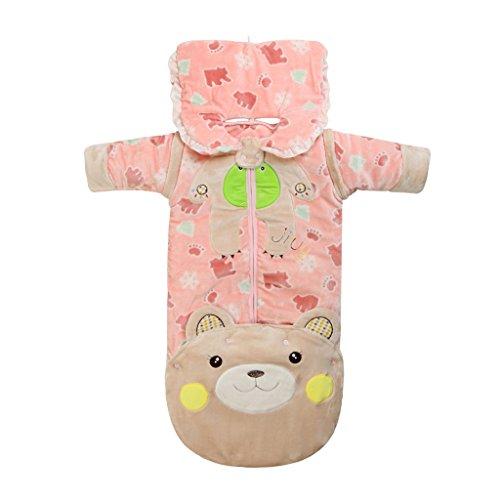 Sacco Nanna Invernale 3.5 Tog Sacco a pelo Sacchi con maniche staccabili bambino appena nato anti-calci