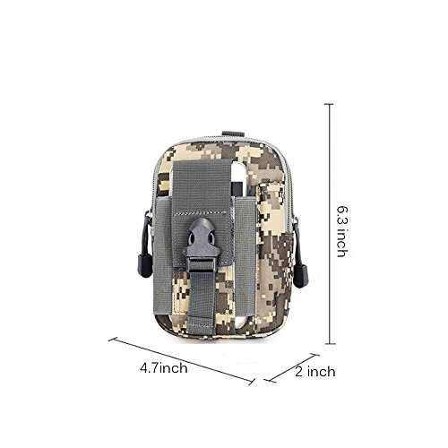 ouksome Tactical MOLLE EDC Tasche Kompakt Outdoor Mehrzweck-Utility Gadget Werkzeug Gürtel Taille Tasche Pack ACU