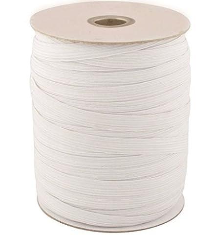 Blanc Et Noir–Cordon élastique plat extensible pour les vêtements, jupe et pantalon, Sangles avec rebord par Mariage, Tissu, Black - 5m, 12 mm