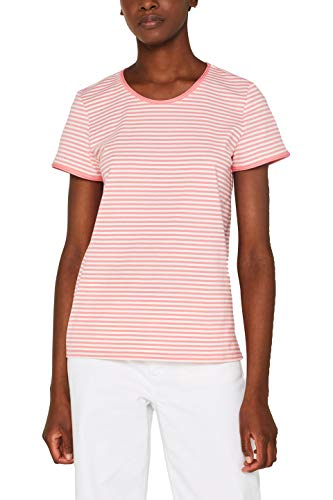 edc by ESPRIT Damen 049CC1K013 T-Shirt, Rosa (Pink 670), Medium (Herstellergröße: M) -
