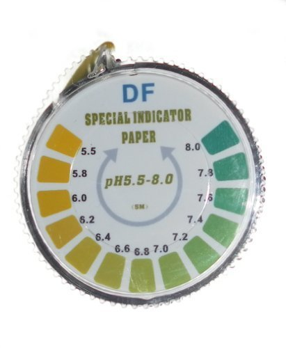 pH Indicator Litmus Test Paper Strip Roll, 5.5 - 8 For Water Urine And Saliva - 5 Meters by DF Speciality Test Paper
