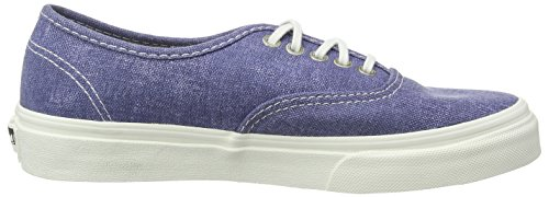 Vans Authentic Slim, Damen Sneakers Blau ((Stripes) washed/navy)