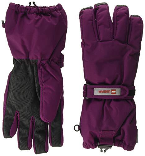 Lego Wear Mädchen Lego Tec Play LWALFRED 703-Fingerhandschuhe mit Membran Handschuhe, Violett (Bordeaux 383), 4 (Herstellergröße:104)