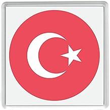 para Turquía Bandera Emoji 58mm x 58mm nevera imán / Flag for Turkey Emoji 58mm x 58mm Fridge Magnet