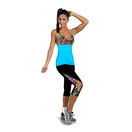 Damen Sporthose ,Sonnena Frauen High Taille Fitness Yoga Sport Hosen Seite bedruckt Stretch zugeschnitten Legging spandex Schnell Trocknend Mesh Yogahosen Fitness Strecth Hose Casual Hohe Taille Leggings (M, Schwarz) (Spandex-stretch-leggings)