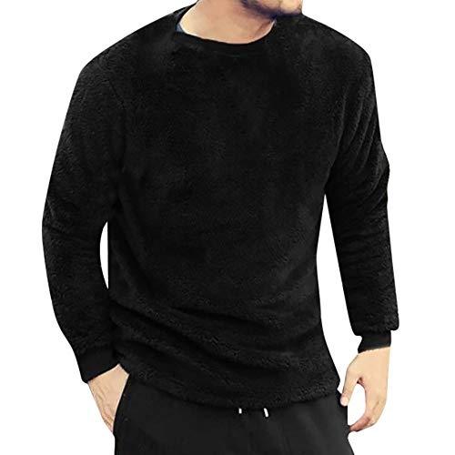 ✮R-Cors✮ Herren Sweatshirt Sweater Uni Rundhals-Ausschnitt Baumwolle Lightweight Sport Fitness Training Täglichen Modern Sweatshirt Langarmshirt Pullover Warm Basic -