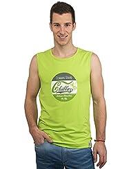 Chillaz Hombre Calanques Retro Tank Top, primavera/verano, hombre, color verde lima, tamaño large