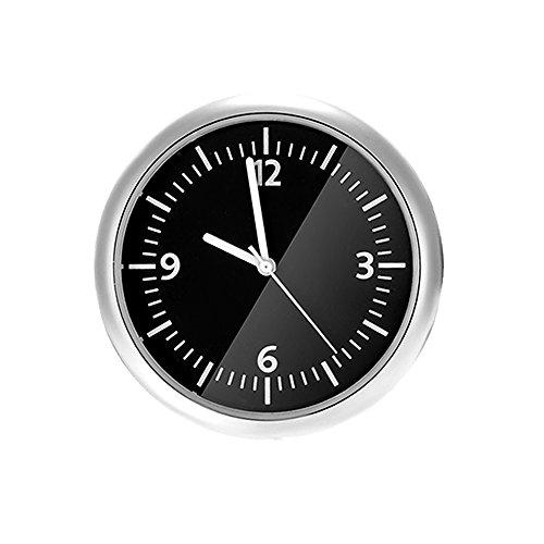 TiooDre Universal Auto Uhr Autos Innenausstattung Stick-on Uhr Glow Auto Ornament Schwarz A