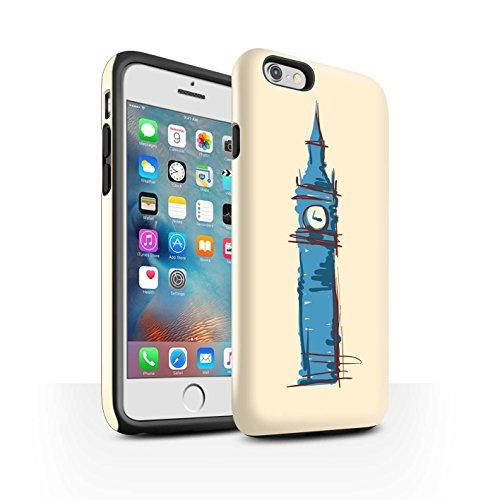 STUFF4 Glanz Harten Stoßfest Hülle / Case für Apple iPhone 6+/Plus 5.5 / Kolosseum / Rom Muster / Wahrzeichen Kollektion Big Ben / London
