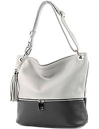 modamoda de - ital. Ledertasche Damentasche Umhängetasche Tasche Schultertasche Leder T143