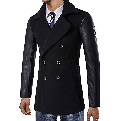 TWBB Herren Mantel Winter Warm Vintage Pullover Outwear Windbreaker Jacken Wolljacke Trenchcoat Wintercoat Herrenmantel Wintermantel Sweatshirts