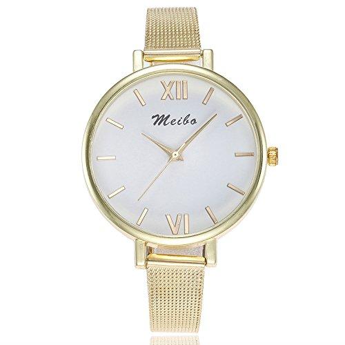 Damen Armbanduhr, LEEDY 2019 Minimalistisch Uhren Analog Quarz mit Mesh Edelstahl Ultradünne Casual Quarzuhr Watch Geschenk