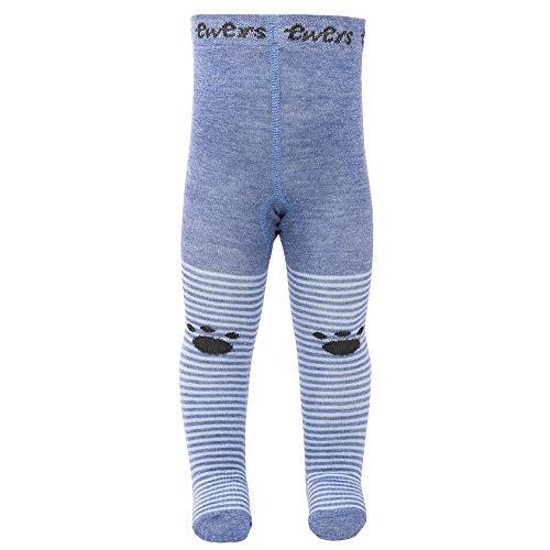 Ewers Baby- und Kinderstrumpfhose für Jungen und Mädchen Teddy Pomotiv, Made in Europe, Strumpfhose Baumwolle (Teddy-bär Mit Socke)