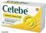 Cetebe® Vitamin C Retard 500 Spar-Set 2x120 Kapseln mit Langzeitwirkungnur 1mal am Tag,besonders für Personen mit akuten Infektionskrankheiten, Raucher,Senioren über 65 Jahre geeignet