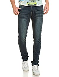 Deeluxe 74 - Jogg jeans homme bleu délavé vieillit