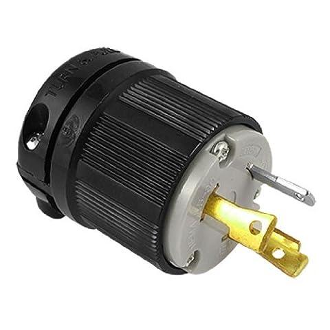 DealMux AC 125V 30A Nema L5-30P 3-Prong Twist Lock männlich Stromstecker (Nema Twist)