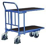 C+C Wagen mit 2 Ladeflächen aus Siebdruckplatte Traglast (kg): 400 Ladefläche: 880 x 500 mm RAL 5010 Enzianblau