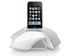 JBL On Stage 4 Portable Speaker Dock with UK/EU Mains Adapter for Compatible with iPhone 3G, 3GS, 4, 4S, iPod Touch 4th Gen and iPod Nano 6th Gen - White