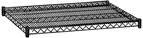 Salsbury Industries 9134BLK 36-Inch Wide by 24-Inch Deep Additional Shelf for Wire Shelving, Black by Salsbury (24 Wire Shelf)