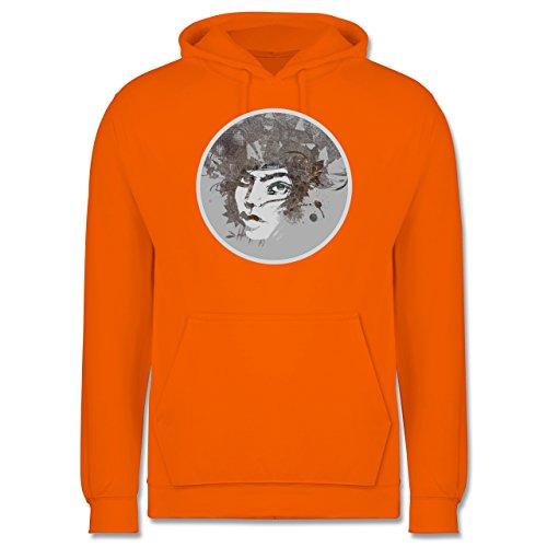 Sonstige Berufe - Circle mind - creative brainstorming - Männer Premium  Kapuzenpullover / Hoodie Orange