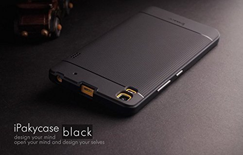 Original iPaky Brand Luxury High Quality Ultra-Thin Dotted Silicon Black Back + PC Black Frame Bumper Back Case Cover For Lenovo K3 Note & Lenovo A7000 By Jagdamba Sales