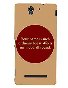 Fuson 3D Printed Quotes Designer back case cover for Sony Xperia C3 - D4568