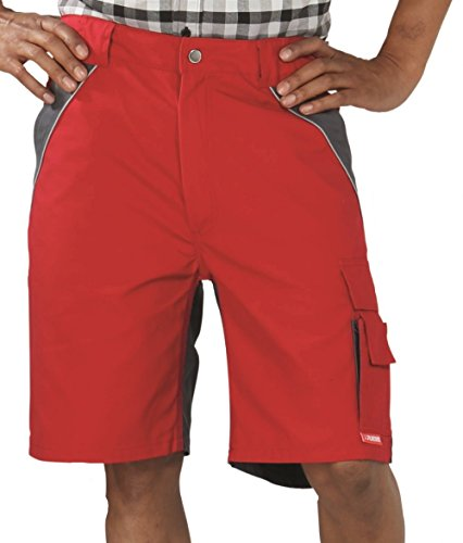 2547 Planam Plaline Arbeitsshorts rot/schiefer (XS, rot/schiefer)