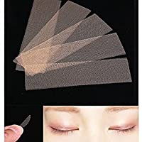 Tiptiper 120pcs Eyelid Stickers Double Eyelid Tapes Narrow Lace Double Side Adhesive Technical Breathable Makeup Cosmeti
