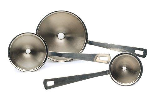 RSVP Mini Funnel Set Of 3 Herb Spice Bottle Filler Kitchen 18/8 Stainless Steel Rsvp Endurance Spice
